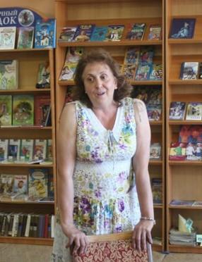 Людмила Богдановская на встрече с юными читателями